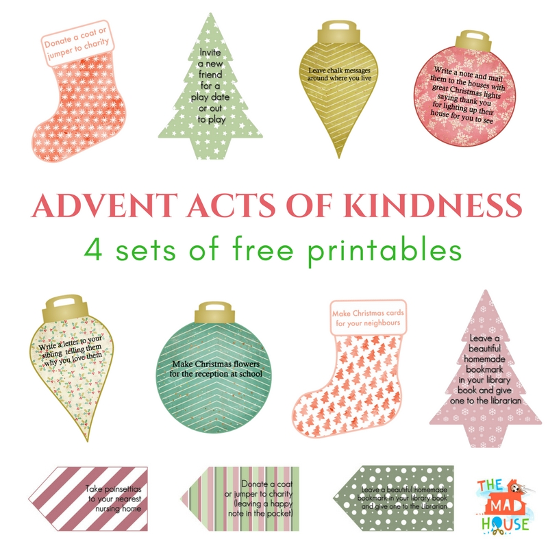 picture regarding Advent Calendar Printable referred to as Functions of Kindness Arrival Calendar Printables - Mum Inside The