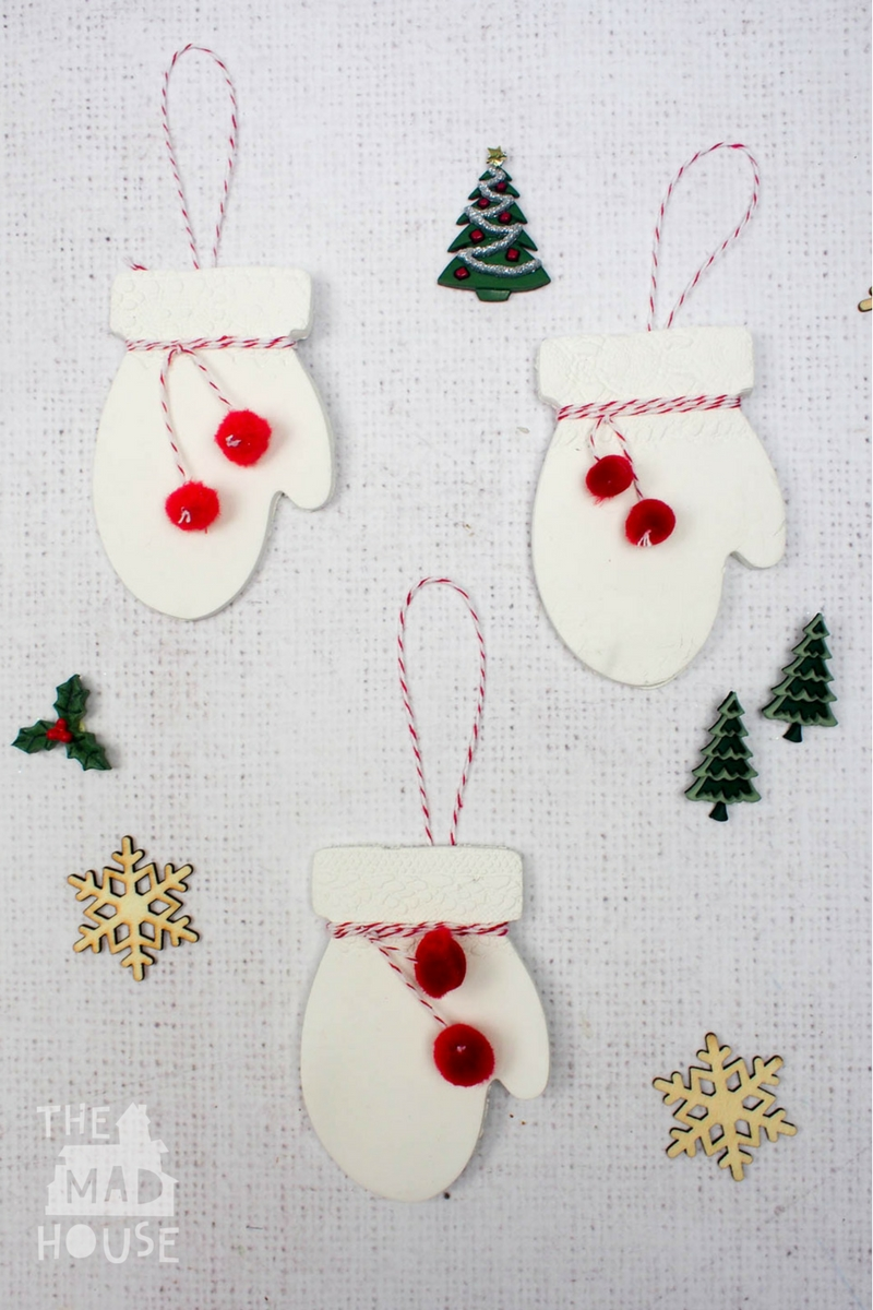 How To Make Beautiful Clay Mittens Christmas Decorations From Air Drying The Perfect