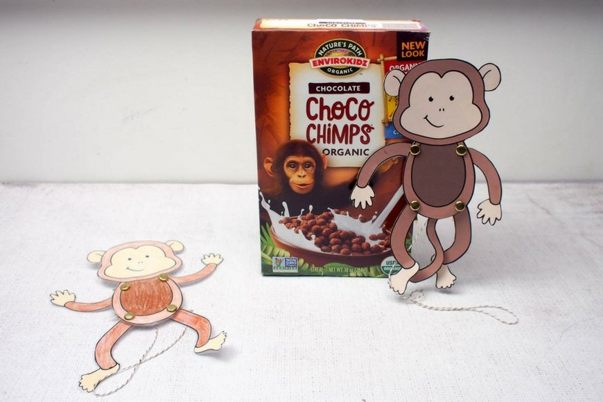 Easy Monkey Paper Puppet with Templates