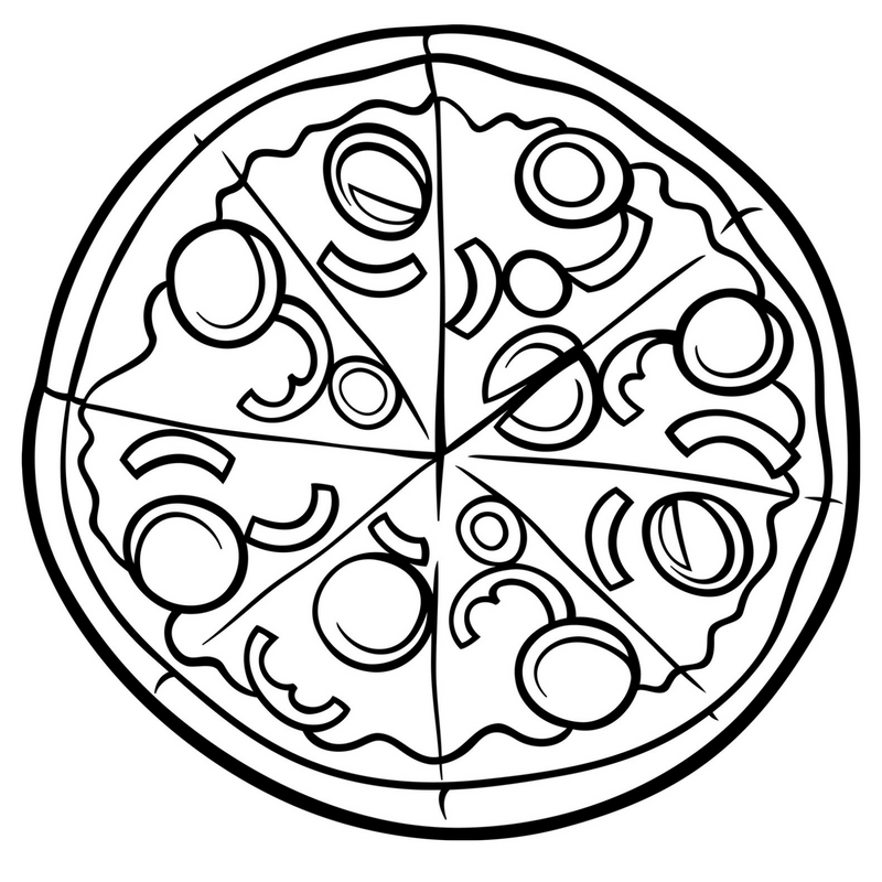Pizza Colouring Pages And Pizza Night With Chicago Town