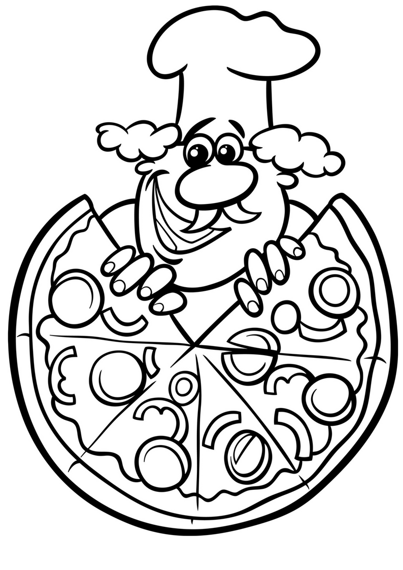 Pizza colouring pages and pizza night with chicago town for Coloring pages of pizza