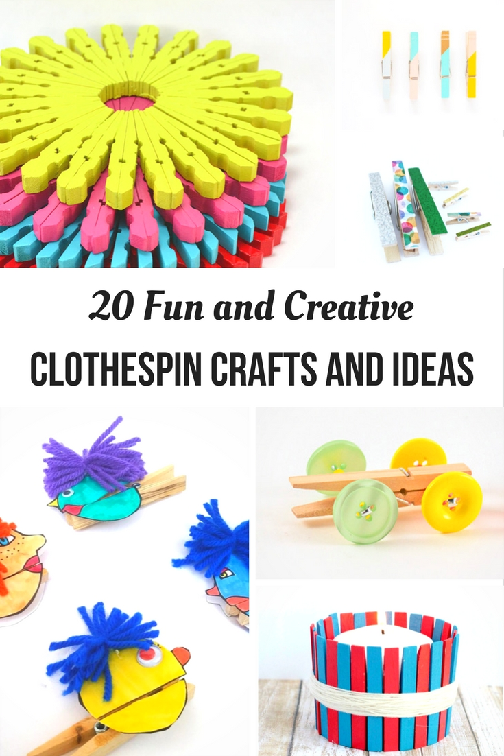 20 fun and creative clothespin crafts ideasthat will inspire you to create your ownuse for the humble clothespin. Cool DIY handmade gifts from old clothespegs