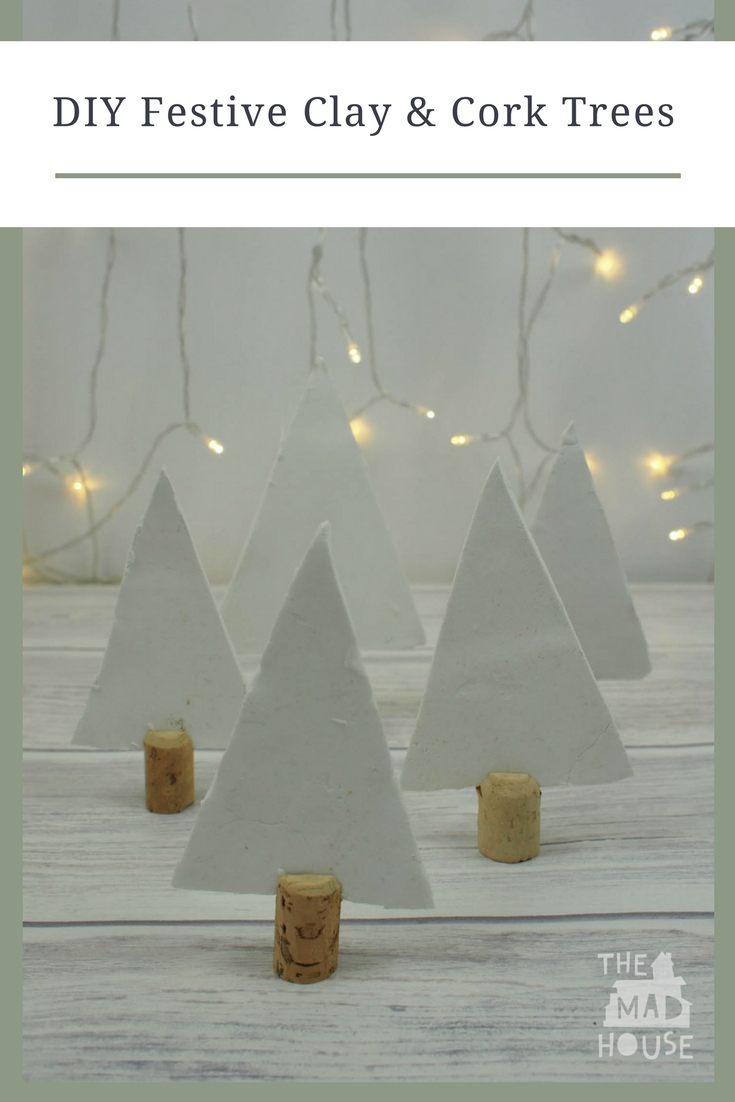 These DIY Festive Clay and Cork Trees and a perfect craft for Christmas. A super simple and gorgeous holiday craft using clay.