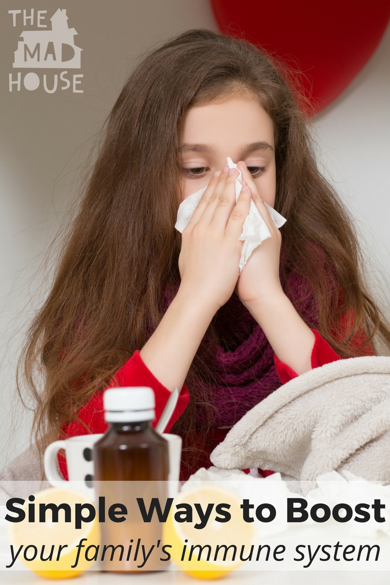 Ways to Boost your family's Immune System - My favourite tactics for boosting your family's immune system and protecting against colds and flu. Simple, easy and achievable ways to improve your family's resistance to everyday illness.