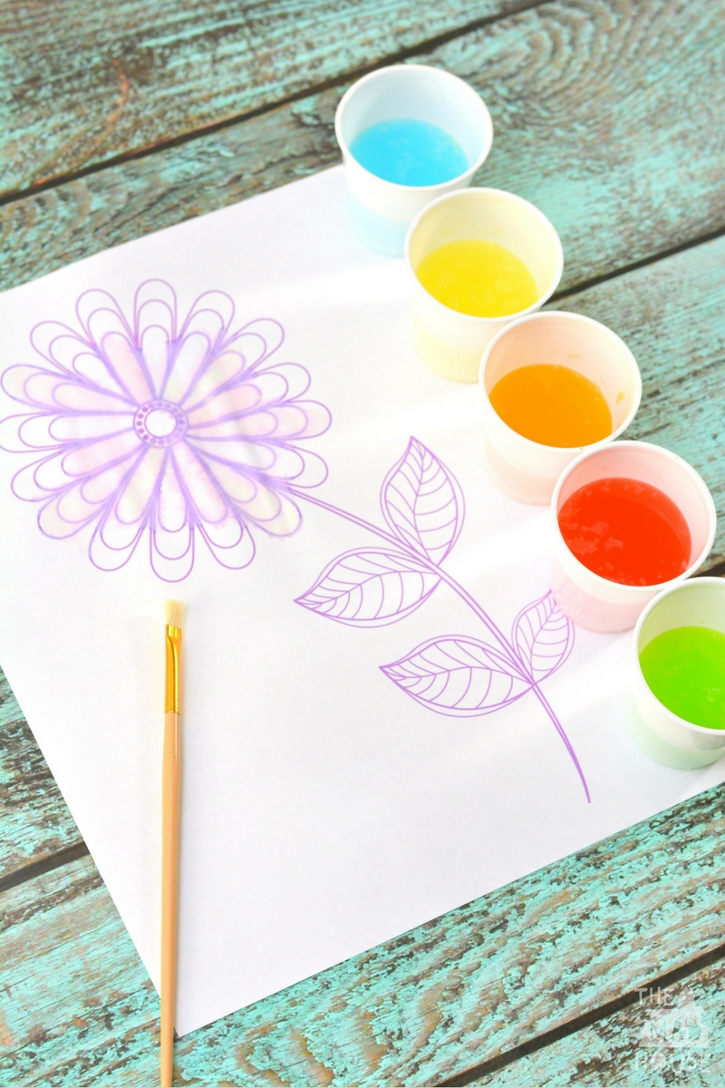 How to make your own taste safe Jelly Bean Watercolours - a fabulous sensory art arctivity