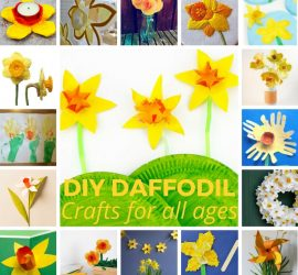 DIY Daffodil Crafts for kids