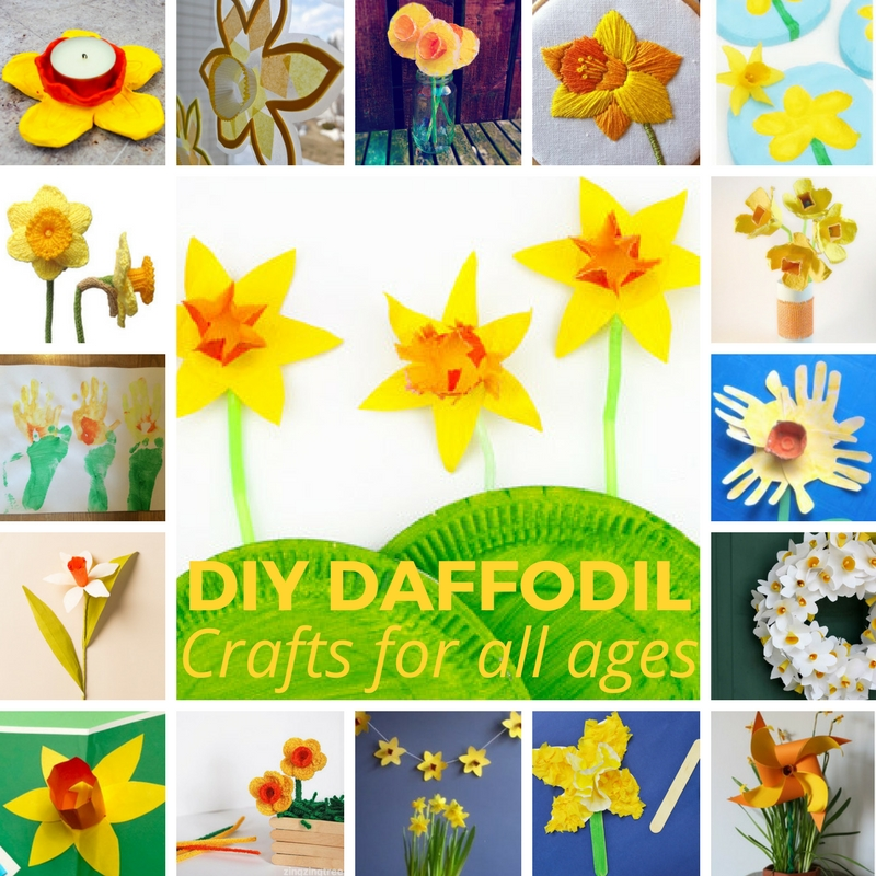 DIY Daffodil Crafts for kids
