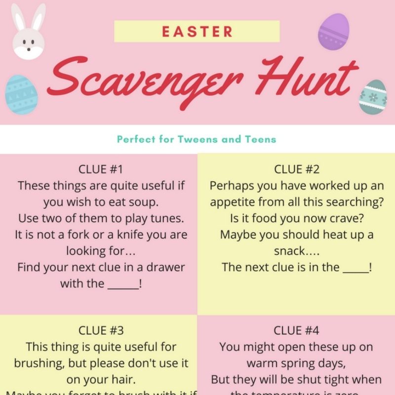 graphic relating to Printable Easter Egg Hunt Clues identify Easter Egg Hunts for Young people - Mum Inside of The Madhouse