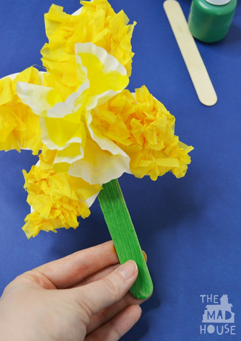 Simple Daffodil Craft For Kids Mum In The Madhouse