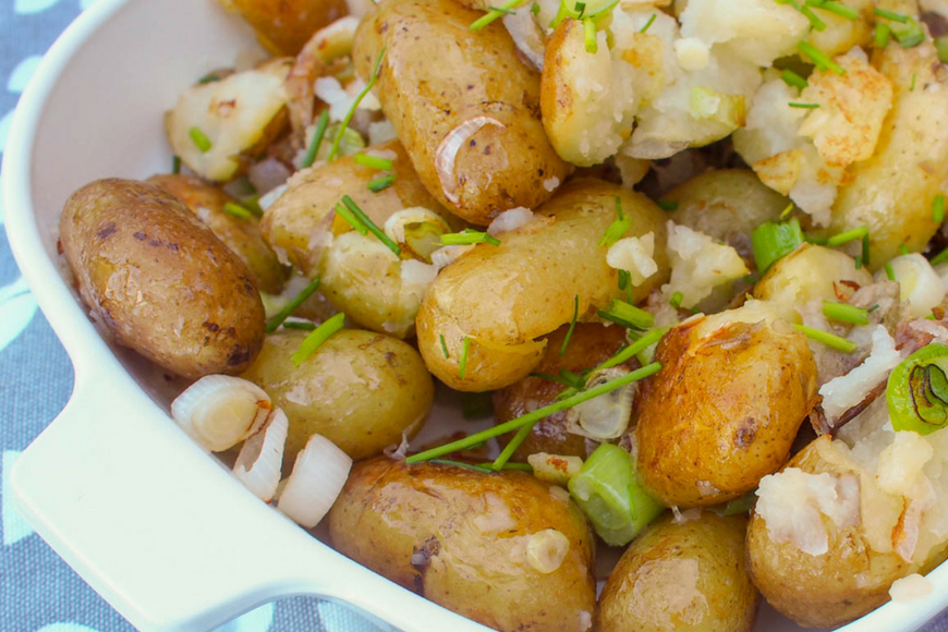 Crushed Jersey Royals - Cooking with Kids - Mum In The Madhouse