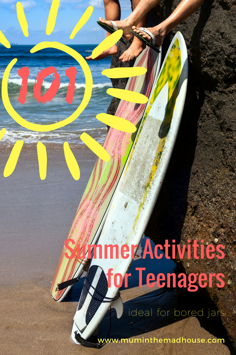 Summer Bucket list for Teenagers - 101 Ideas for Summer Activities for Teenagers. Keep your teens off technology for as long as possible with our summer activities ideas ideal for bored jars