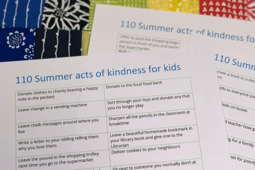 110 Acts of Kindness for Children - Mum In The Madhouse