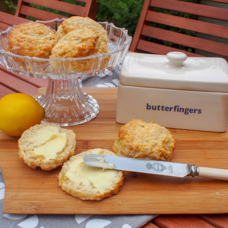 Lemon and Ginger Scones, a perfect trreat for afternoon tea. The combination of lemon and ginger is refreshing and slightly fiery at the same time