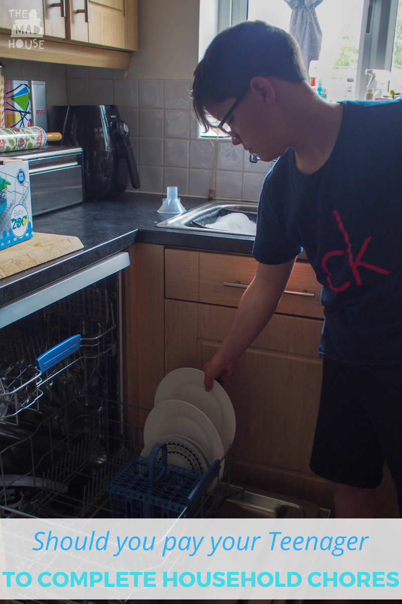 Should you pay your teens to do chores?