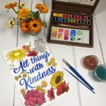 Free Printable All Things with Kindness Colouring Page