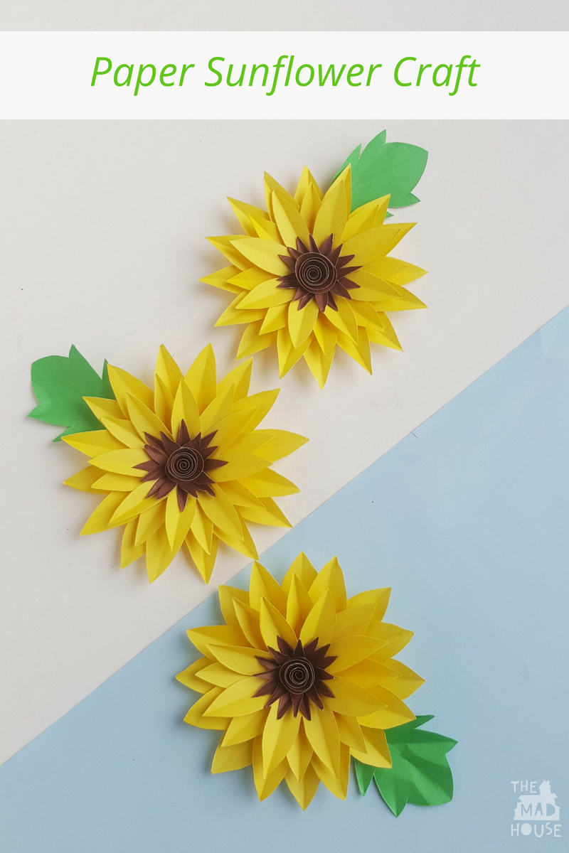 I love this time of year when the sunflowers all looking glorious in the garden and standingproud. So why not take inspiration from them to make some beautiful paper sunflowers. They look fabulous on cards or if you take a straw on the back you can have a bunch of sunflowers for a vase or give as a gift.