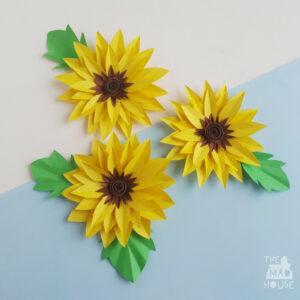 Paper Sunflower Craft