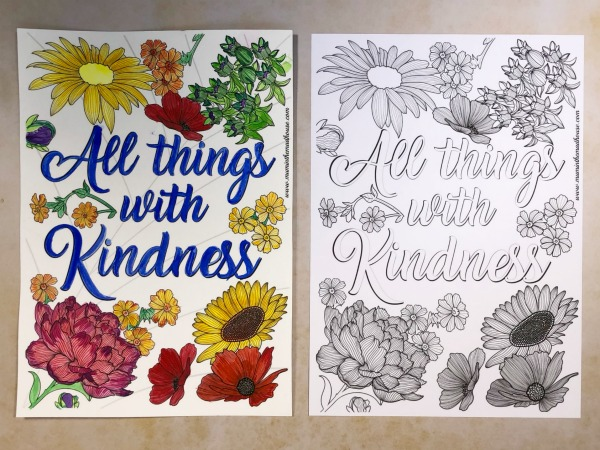 - Free Printable All Things With Kindness Colouring Page - Mum In The Madhouse