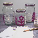Folk Flower Mason Jar Luminaries