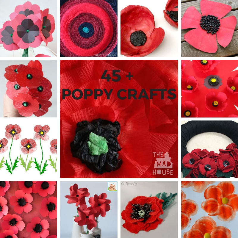 Over 45 Poppy Crafts Perfect For Remembrance Armistice Or