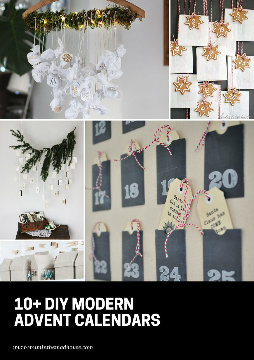 DIY Modern Advent Calendars you will want to make - These DIY modern advent calendars are the cutest way to pass the days until Christmas.  They are a wonderful reminder of the season of Advent and the anticipation that each and every day brings.