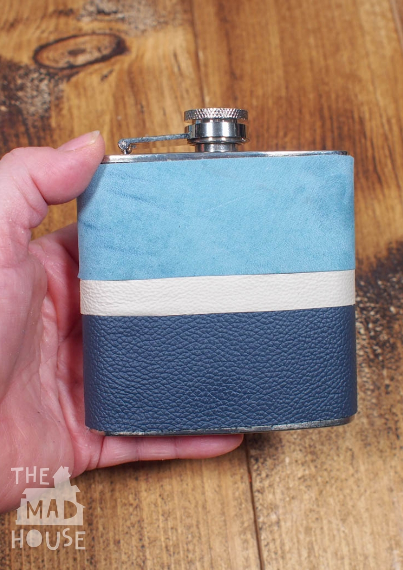 A DIY Leather Wrapped Hip Flask is a beautiful homemade customised gift perfect for adding some individualisation to a standard gift.