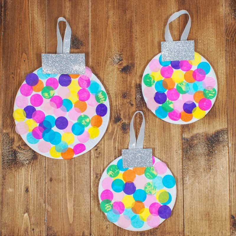 Paper Plate Baubles Giant Christmas Decorations Mum In The