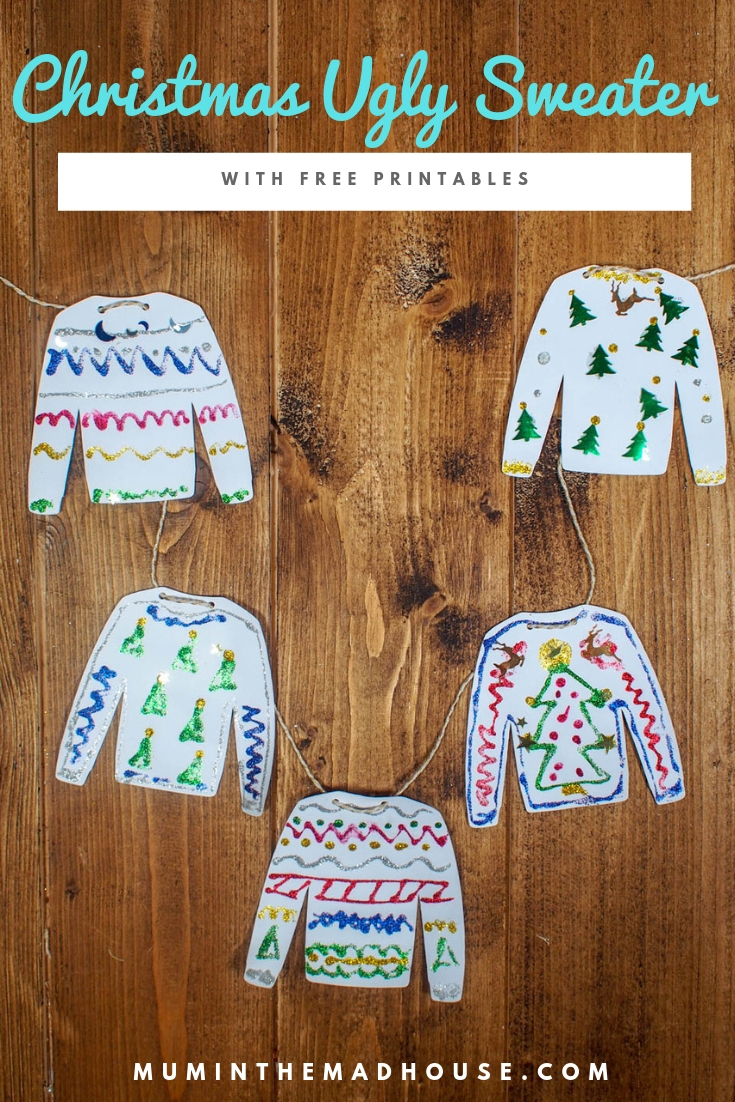 Do you love Ugly Sweaters or Christmas Jumpers? Design your own Christmas Ugly Sweater with our fabulous free printables perfect for your ugly sweater party or to make Ugly Sweater decorations.