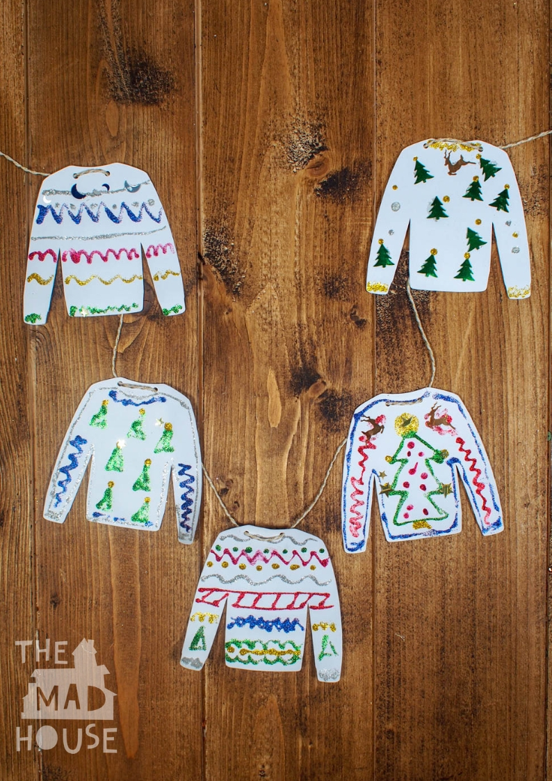 Design your own Christmas Ugly Sweater with our fabulous free printables perfect for your ugly sweater party or to make Ugly Sweater decorations.