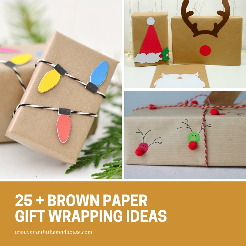 25 Beautiful Brown Paper Christmas Wrapping Ideas Mum In The Madhouse