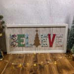How to make a DIY Believe Christmas Plaque