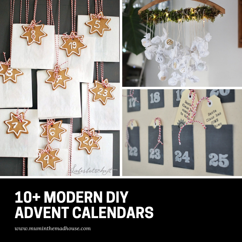 These DIY modern advent calendars are the cutest way to pass the days until Christmas.  They are a wonderful reminder of the season of Advent and the anticipation that each and every day brings.