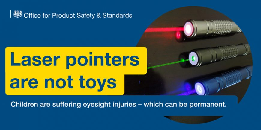 How Parents can protect their Children from Laser Pointers - Lasers are not Toys. Tips for keeping your kids safe from lasers.