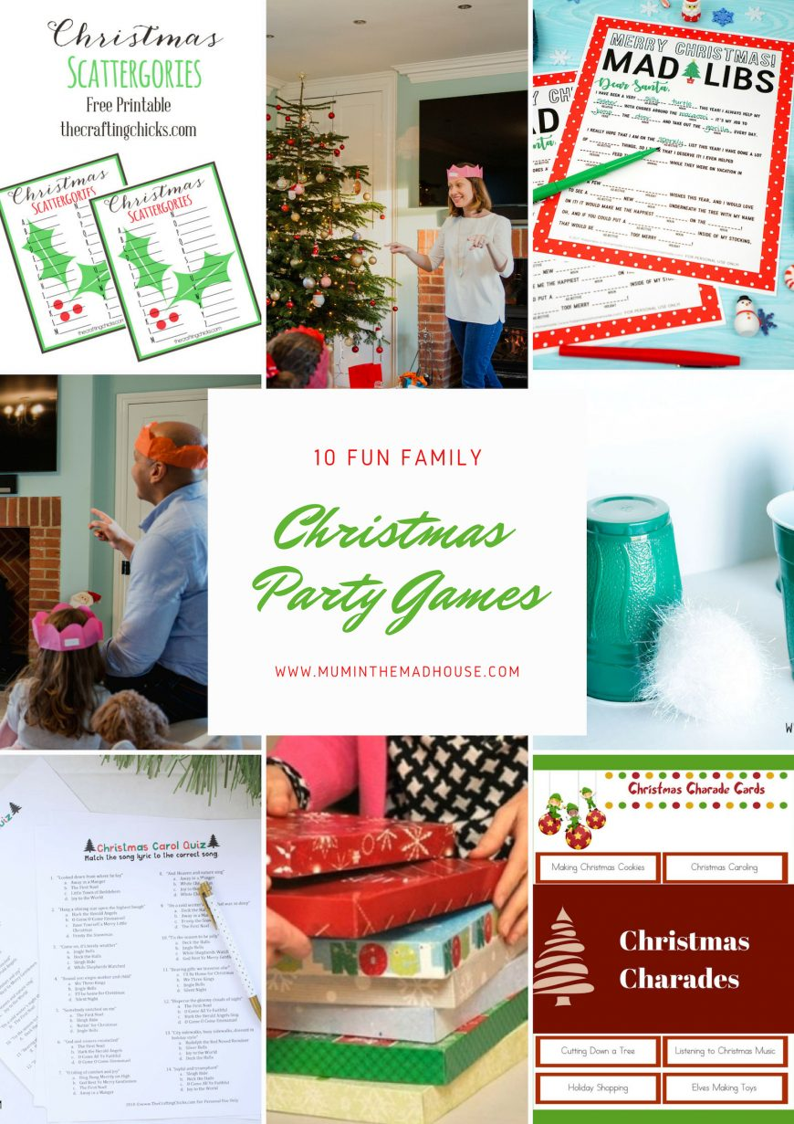 This assortment of familyChristmas party games are perfect for family gatherings but work equally as well in larger group situations such as classrooms, cubs, beavers or brownie parties.  They are all inexpensive to do and take very little preparation.