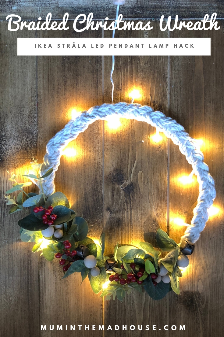 This Scandinavianinspired braided Christmas wreath was inspired by a tiny decoration I spotted in a local store and also the perfect Ikea Hack.