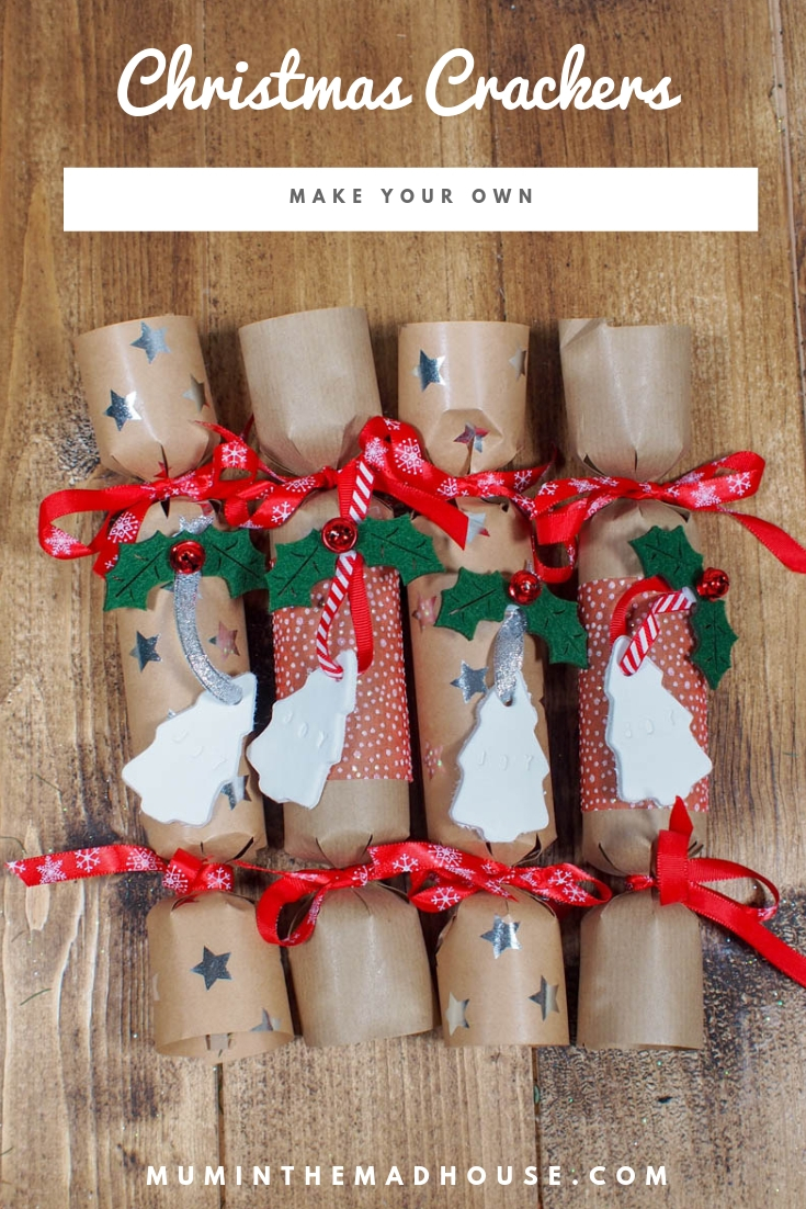 Make your Own Christmas Crackers - Make Christmas Day go with a bang by making your own Homemade Christmas crackers and addingsome wow factor to Christmas dinner and personalising them.