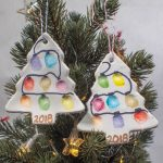 Fingerprint Christmas Tree Ornament - Air Drying Clay