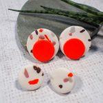 DIY Terrazzo Earrings using Leftover Polymer Clay