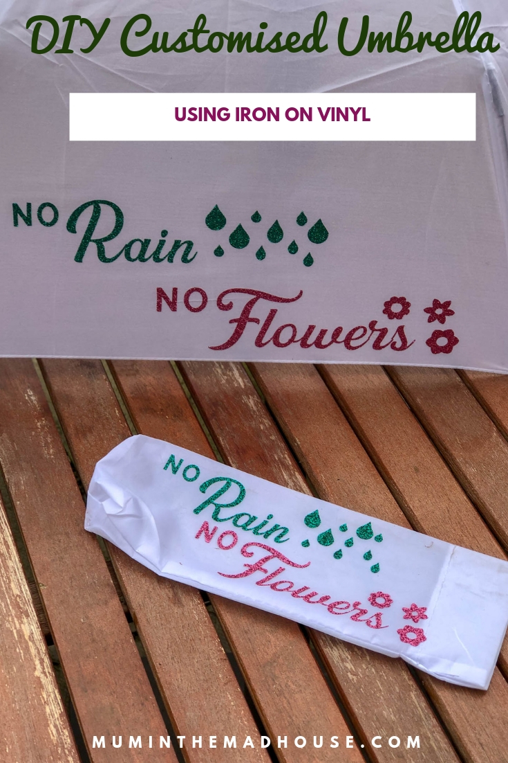 This Iron on Umbrella DIY is a quick project and a great way to put a happy slant on a rainy day. Cute, simple cricut craft.