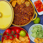Chilli with Dips - A Perfect Family Dinner