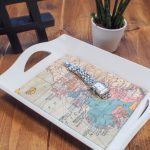 Make your own DIY Vintage Map Tray