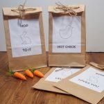 Last Minute Simple Easter Bags - Free Printable