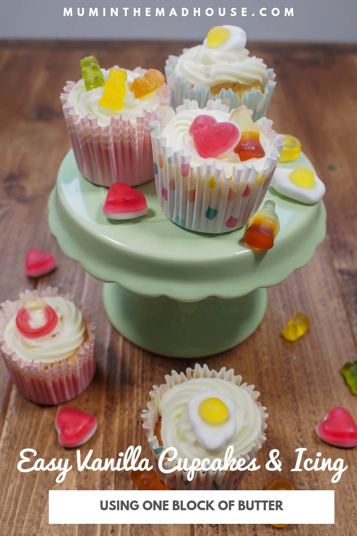 Rustle up a batch of these easy vanilla cupcakes and vanilla icing for a weekend treat and these are so simple so make with the kids.
