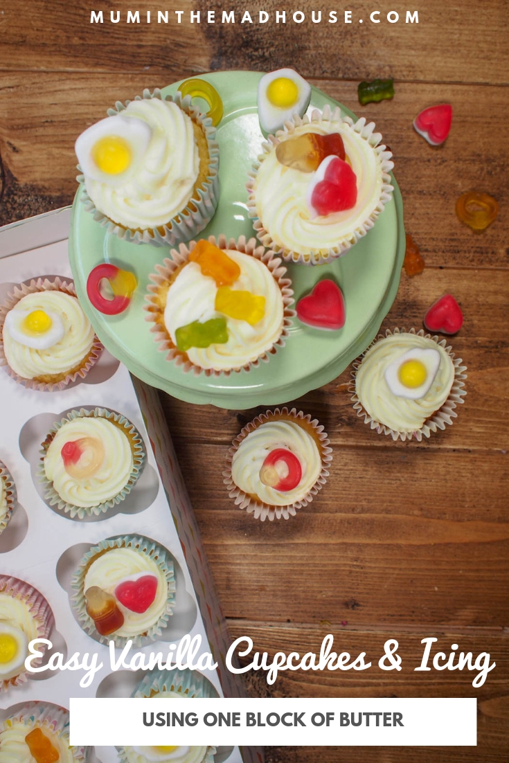 These easy vanilla cupcakes and vanilla icing are perfect a weekend treat and these are so simple so make with the kids.