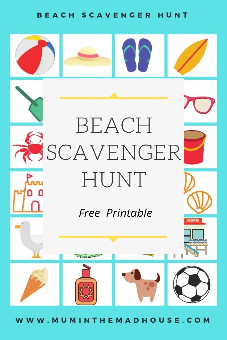 This free printable beach scavenger hunt or beach eye spy is perfect to give to the kids so you can have a five minute (or more hopefully) sit dow