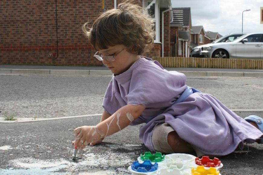 Homemade pavement paint