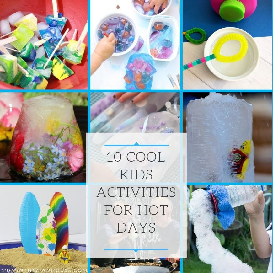 10 of the best activities for the summer to help your kids beat the heat whilst having a blast.  They are fun and fabulous, yes they are cool kids activities for hot days