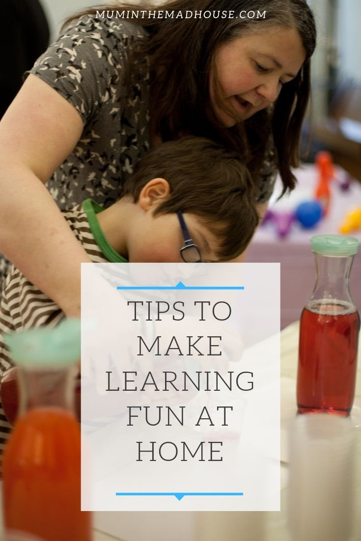 Simple and easy tips to make learning fun at home.  Children love to learn and don't even know they are when they are having fun a nd learning through play.