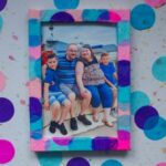 Tissue Confetti DIY Decorated Photo Frame