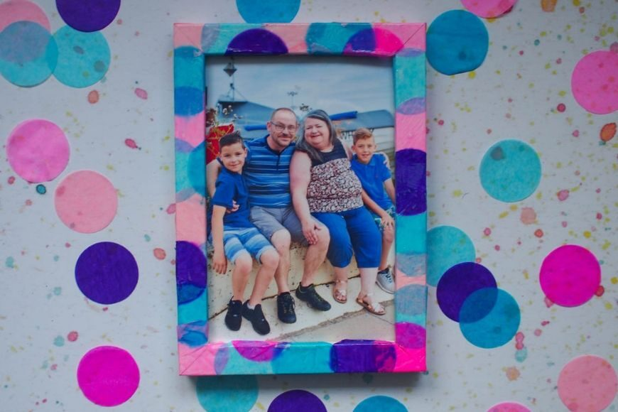 DIY Decorated Photo Frame